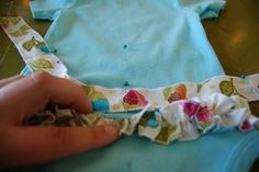 How to create a ruffle bottom onsie :) Very cute and three different ways to do it!