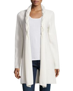 Reverse Braided Cashmere Cardigan / NM