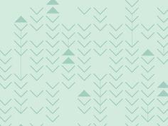 Beautiful mint triangle chevron pattern