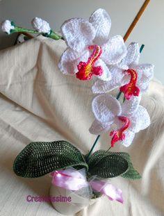 Orchidea Pianta all'uncinetto fatto a mano, by CREATIVISSIME, 30,00 € su misshobby.com