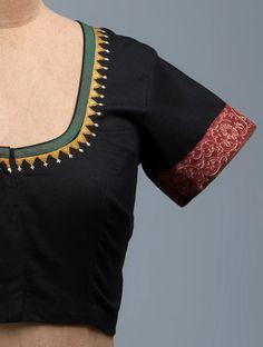 Kalamkari Blouse Designs, Cotton Saree Blouse Designs, Bridal Blouse Designs, Blouse Neck Designs, Simple Blouse Designs, Stylish Blouse Design, Designer Blouse Patterns, Cotton Blouses, Embroidery Designs