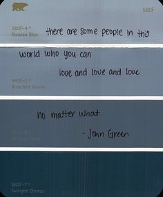 """There are some people in this world who you can love and love and love no matter what."" -An Abundance of Katherines by John Green💕 Pretty Words, Love Words, Beautiful Words, Lifetime Quotes, An Abundance Of Katherines, John Green Quotes, Hard To Love, Old Quotes, The Fault In Our Stars"