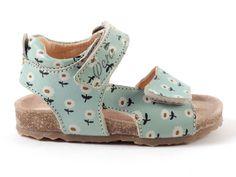 Ocra+603+sandaaltjes+FLOWERS++bloemetjes+blauw+(maat+20-31)+