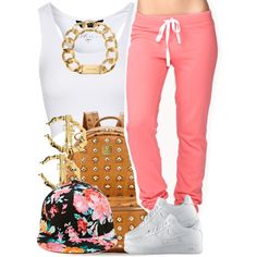 A fashion look from May 2014 featuring Jane Norman tops, Forever 21 and NIKE shoes. Browse and shop related looks.