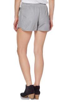 Shorts in Pelle di Montone Dance<BR>Grigio