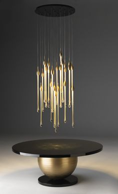 """""""ALLURE"""" lamp e """"MARS"""" Table. Inspiration collection by Paolo Castelli S.p.A."""