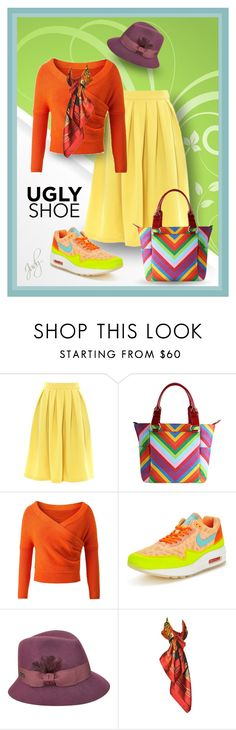 """Running Shoe ,Dressed Up"" by judymjohnson ❤ liked on Polyvore featuring J.Reneé, NIKE, Betmar and Hermès"