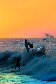 Surfing in the sunset #surfing http://www.blueprinteyewear.com/