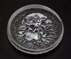"TAPIO WIRKKALA - Glass dish ""Lunaria"" 3449 designed 1971 for Iittala, in production 1971-1992, Finland.   [h. 8 cm, Ø 28 cm] Glass Design, Design Art, Glass Dishes, New Pins, Finland, Vintage Designs, Scandinavian"