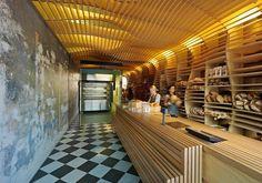 Baker D Chirico, March Studio, Melbourne - wooden architectural retail interior Design Shop, Cafe Design, Store Design, Display Design, Design Design, Bakery Design, Restaurant Design, Restaurant Bar, Bakery Shop Interior