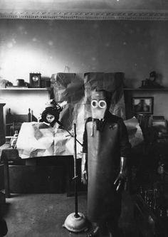 Protective X-ray gear or creepy Halloween costume?