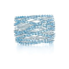 Tiffany & Co. Aquamarine & Diamond Bangle ($ 130,000) found on Polyvore
