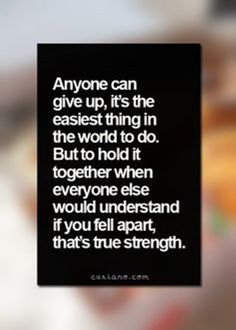 Your true strength. Inner strength