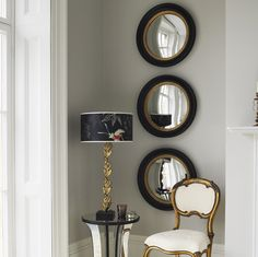 love the rhythm created by these three mirrors /  Graham and Green