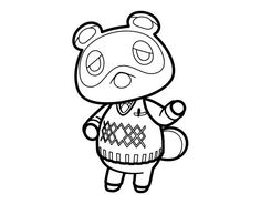 animal crossing coloring pages 5