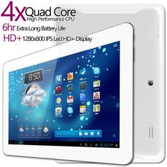 G-Tab Iota Quad Core Android Tablet PC [10.1 Inch IPS, 16GB, Wi-Fi] (White)
