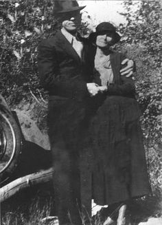 Bonnie and Clyde. The blonde in the pic.