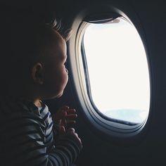 baby sailor's first plane ride was a success. hellooooo LA!  - @Melissa Squires Henson james / bleubird blog- #webstagram