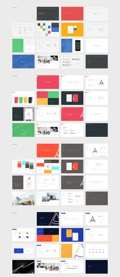 A beautiful collection of 5 different style guide templates! 75 fully customizable and easy to use p Design Slide, Web Design, Corporate Style, Corporate Design, Branding Design, Corporate Identity, Logo Design, Guide Words, Brand Manual