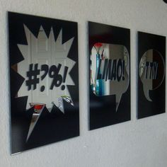 Statement Word Art Vinyl Decal Mirrors by BluePenguinShop on Etsy, $175.00