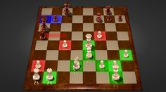 Visual aids for chess beginners
