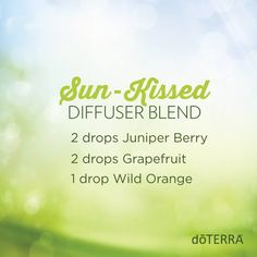 Drink up the sun with this delectable diffuser blend and relish the rest of your day! www.hayleyhobson.com