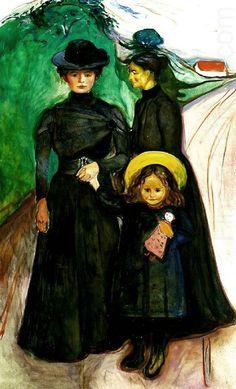 Edvard Munch 1901 The Book Family oil on canvas 197 x 122 cm Thielska Galleriet, Sweden