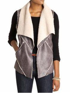 Sherpa Vest by Sanctuary, color: Lead, $130