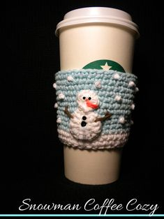 Someone please please make this for me? Snowman Coffee Cozy Pattern