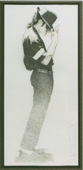 MJ Dance, charcoal drawing 2 - David Nordahl, Michael Jackson's personal portraitist from 1988 - 2005, USA