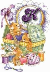 Oh my Alfabetos!: Alfabeto de ratoncitos dentro de costurero.