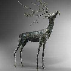 Sculpture Cerf - Christine GUILLEMIN