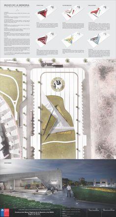 Imagen 5 de 10 de la galería de Conoce el segundo lugar en el concurso del Museo de la Memoria y Derechos Humanos en Concepción, Chile. Lámina 01. Image Cortesía de Equipo Segundo Lugar