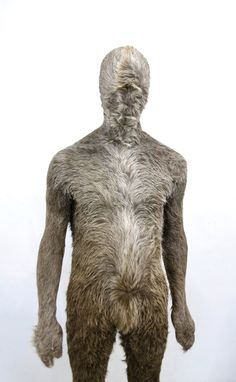 Markus Leitsch Suit 2, 2009 cowhide, resin. 60×30×180cm