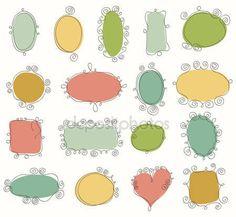 Download - Collection of doodle frames — Stock Illustration #10647563