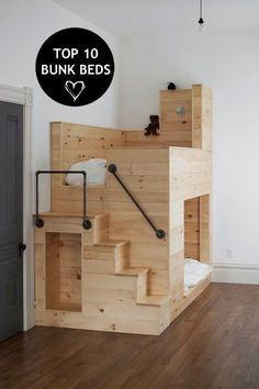 Bunk beds are the jam! Space saving, traditionally awesome conversation mobiles for two sleepless kiddos! Built to perfection.