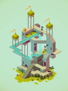 videogameartstyles:  Hi! My name is Ken Wong, this is from Monument Valley, the new game I'm designing and art directing at ustwo™. I previo...