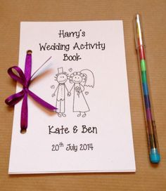 Personalised Cartoon Children Wedding Activity Pack Book Gift Favour 13 Colours in Home, Furniture & DIY, Wedding Supplies, Other Wedding Supplies Kids Table Wedding, Wedding With Kids, Diy Wedding, Wedding Gifts, Wedding Favours Diy, Childrens Wedding Favours, Wedding Ideas, Wedding 2017, Wedding Reception