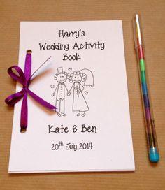 Personalizado De Dibujos Animados Niños Boda actividad Pack Libro Regalo favor 13 Colores