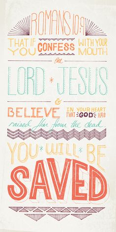 You Will Be Saved - Romans 10:9 - illustrated verse