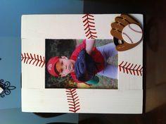 Baseball picture frame