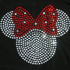 5 clear/red Minnie Mouse  iron on hot fix by MyFairysCloset, $6.99