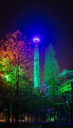 Most surreal place in and the best light installation seen so far. Duisburg-Nord, Germany #Germany #deutschland #duisburg #nrw #Ruhr