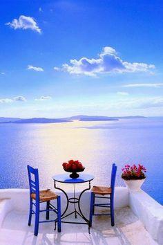 Patio in Santorini Greece