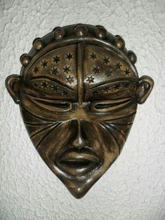 Máscara de Cerâmica Africana- Artes Rei