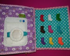 Personalized Quiet Book Busy Book Activity by WeriBeauties on Etsy