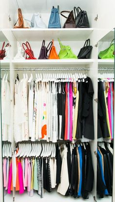 Lisa Perry | The Coveteur // well designed and organized closet.