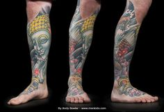 japanese leg sleeve black and grey - Google Search