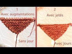 TutoTricot apprendre à tricoter un châle & chèche & poncho point mousse & Tuto tricot augmentations - YouTube