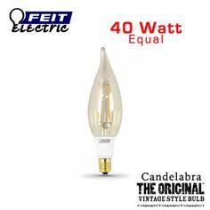 FEIT Vintage LED Candelabra Bulb - 2.5 Watt - 40 Watt Equal